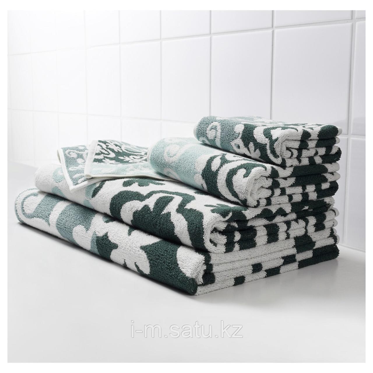 БЛЭДЬЕН Банное полотенце, зеленый, 70x140 см
