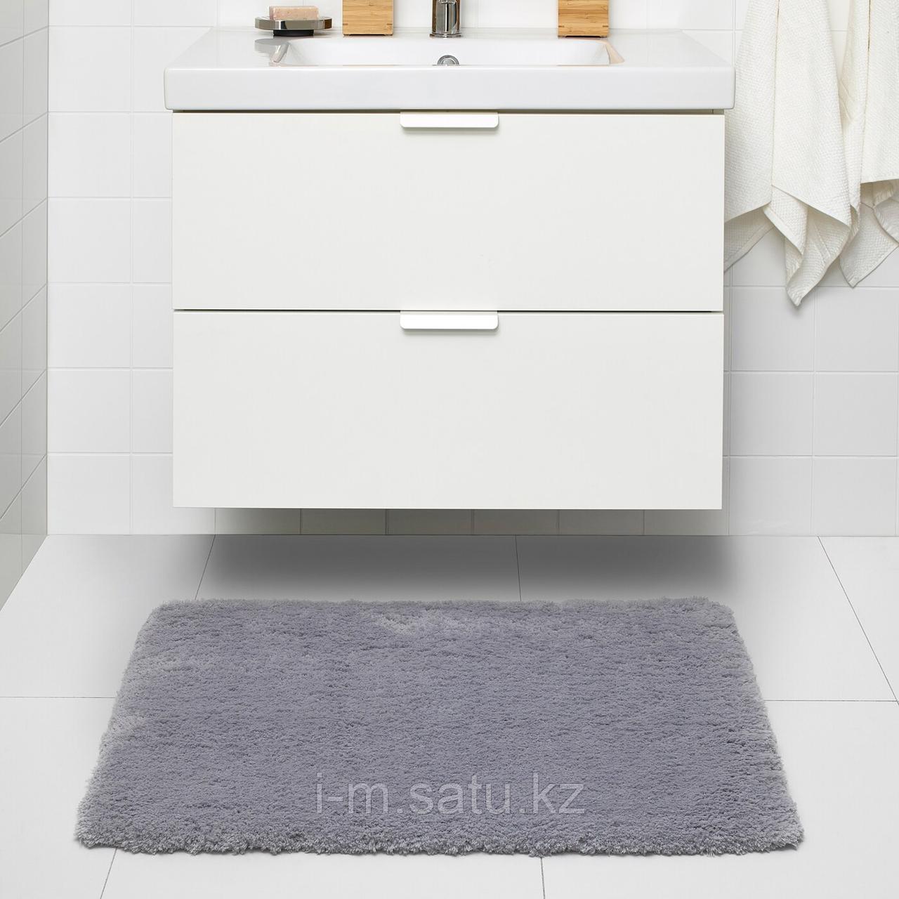 АЛЬМТЬЕРН Коврик для ванной, серый, 65x100 см