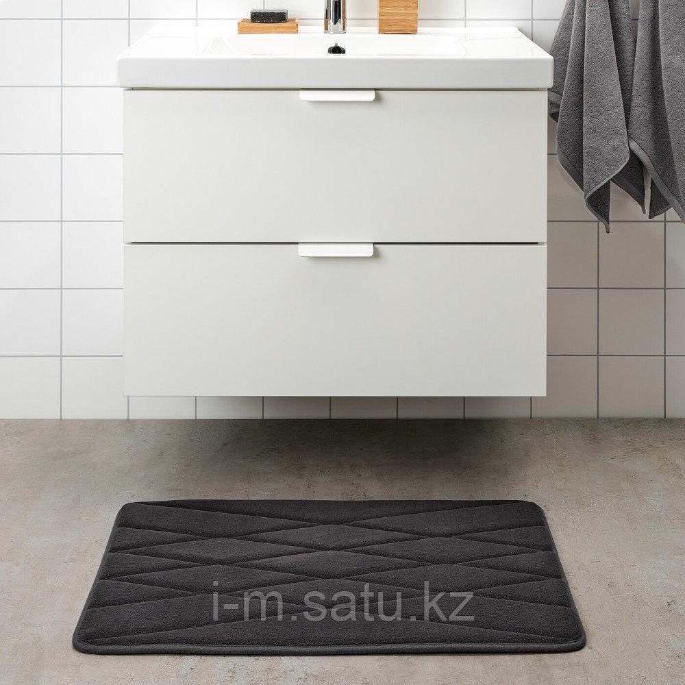 УППВАН Коврик для ванной, антрацит, 50x80 см