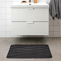 УППВАН Коврик для ванной, антрацит, 50x80 см, фото 1