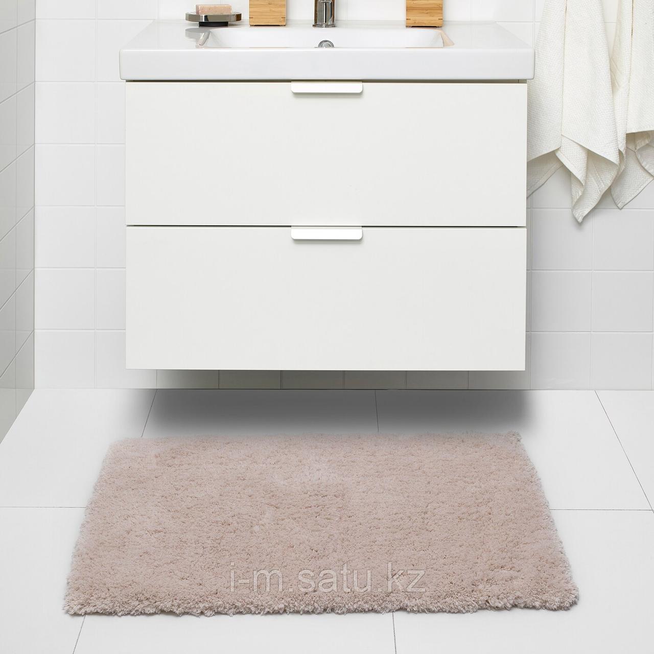 АЛЬМТЬЕРН Коврик для ванной, бежевый, 65x100 см
