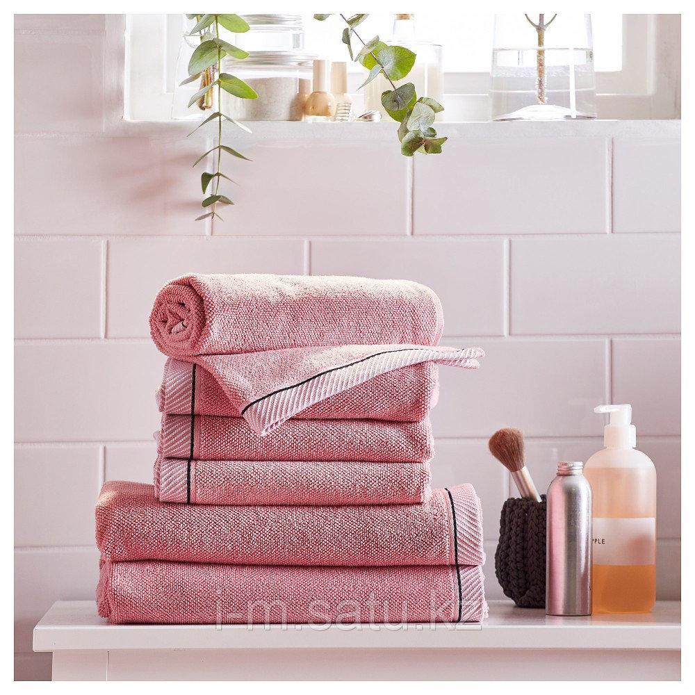 ВИКФЬЕРД Банное полотенце, розовый, 70x140 см