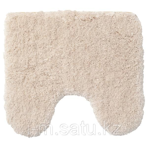 АЛЬМТЬЕРН Коврик в туалет, бежевый, 55x60 см