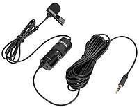 Универсальный петличный всенаправленный конденсаторный микрофон BOYA BY-M1 Pro (для смартфонов, цифровых