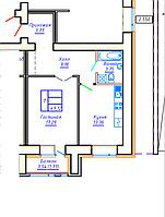 1 комнатная квартира в ЖК Brussel 2 49.07 м², фото 1