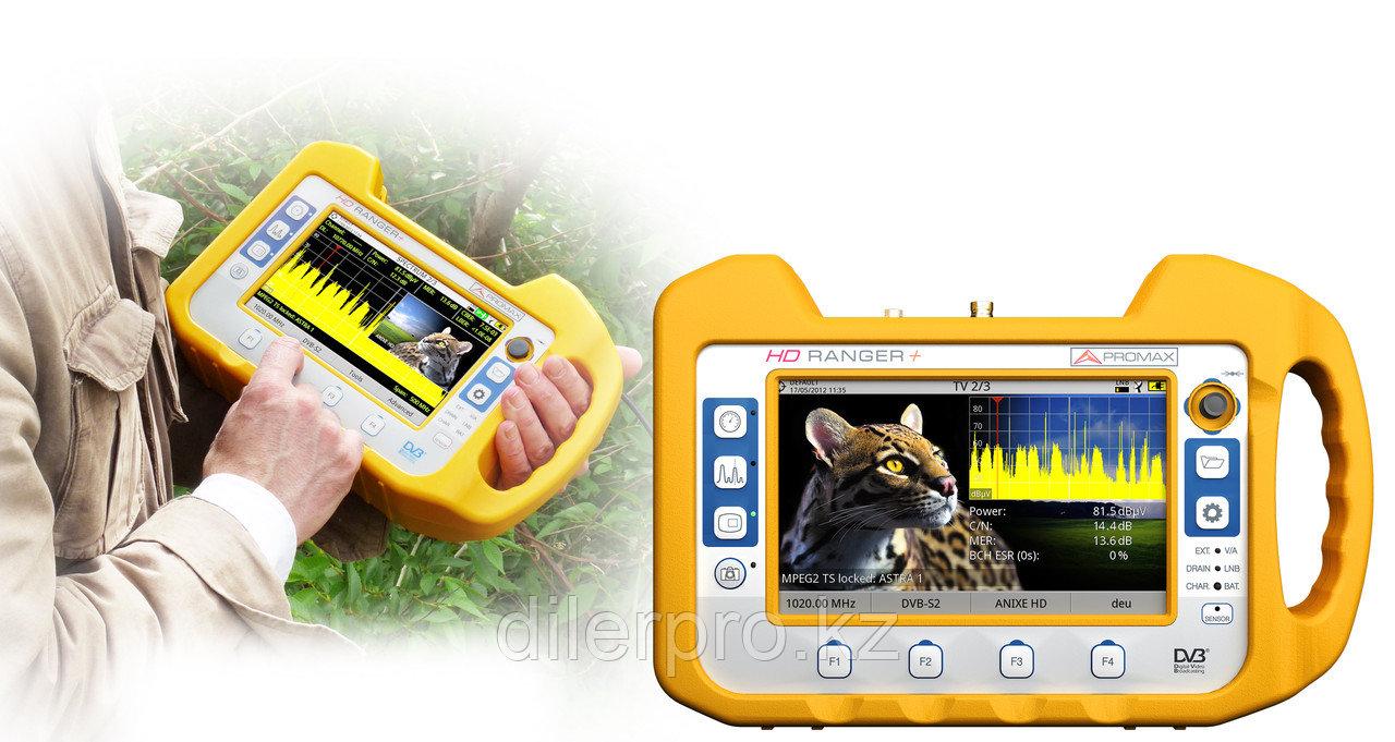 PROMAX HD RANGER+ универсальный анализатор ТВ сигналов (аналоговое и DVB-T/T2, DVB-S/S2, DVB-C/C2)