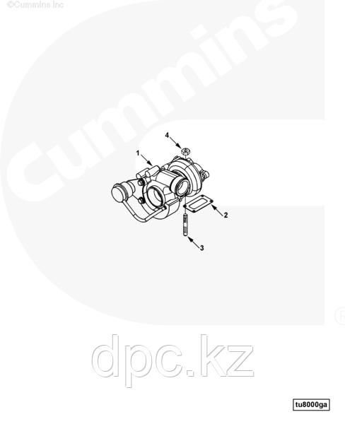 Турбина Cummins B3.3 3800881 C6205818270