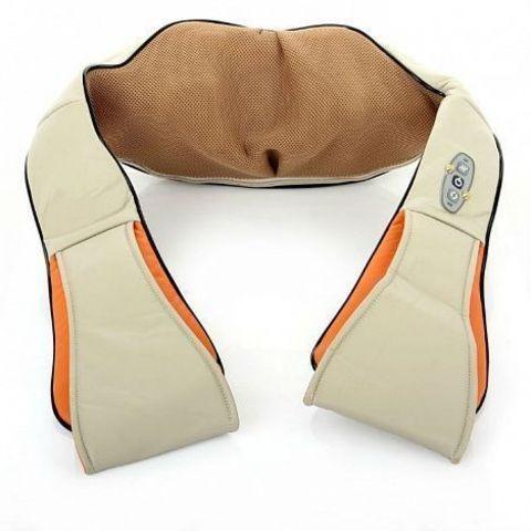 Массажер роликовый для шеи и плеч с ИК-прогревом Neck Kneading MJY-089 {авто 12В + дом 220В}