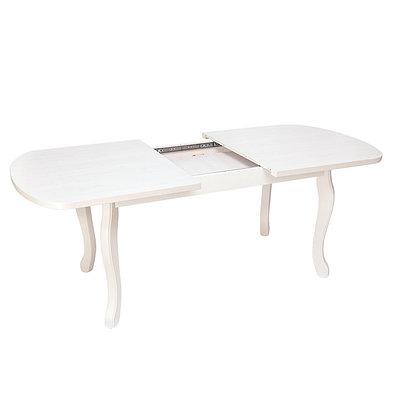 Стол Пегас 90/160/200 раздвижной овальный (белый)