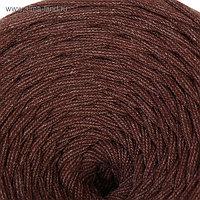 Пряжа трикотажная широкая 50м/160гр, ширина нити 7-9 мм (коричнев. меланж)