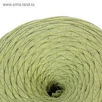 Пряжа трикотажная широкая 50м/160гр, ширина нити 7-9 мм (салатов. меланж)