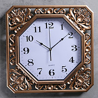 "Часы настенные, серия: Классика, ""Атлас"", бронзовые, 40х40 см"