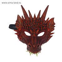 Карнавальная маска «Дракон», цвет бордовый