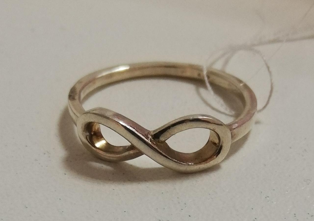 """Серебряное кольцо """"Бесконечность"""". Вес: 1,8 гр, размер: 17,5, покрытие родий."""