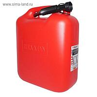 Канистра REXXON для топлива, пластиковая, 20 л, с гибким шлангом и крышкой