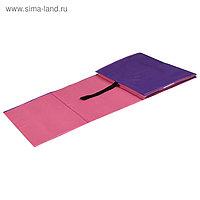 Коврик гимнастический детский 150 × 50 см, цвет розовый/фиолетовый