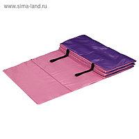 Коврик гимнастический взрослый 180 × 60 см, цвет розовый/фиолетовый