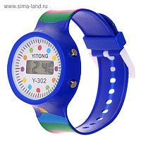 """Часы наручные детские """"Горошина"""", электронные, с силиконовым ремешком, микс, l=22 см"""
