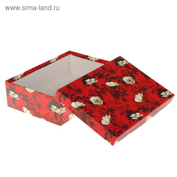 "Набор коробок 10 в 1 ""Белый шиповник"", 36,5 х 26,5 х 12 - 23 х 13 х 3 см - фото 2"