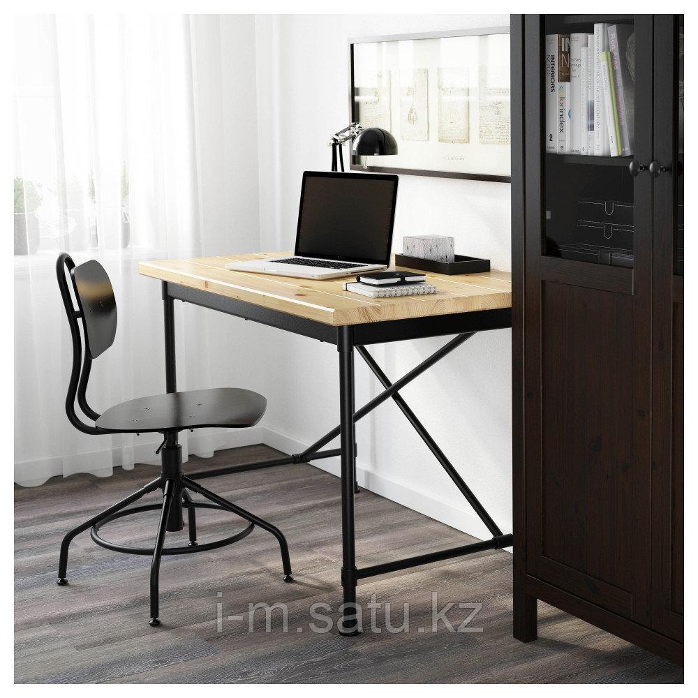 КУЛЛАБЕРГ Письменный стол, сосна, черный, 110x70 см