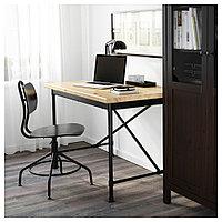 КУЛЛАБЕРГ Письменный стол, сосна, черный, 110x70 см, фото 1