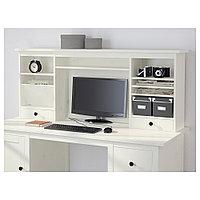 ХЕМНЭС Дополнительный модуль для стола, белая морилка, белая морилка 152x63 см, фото 1