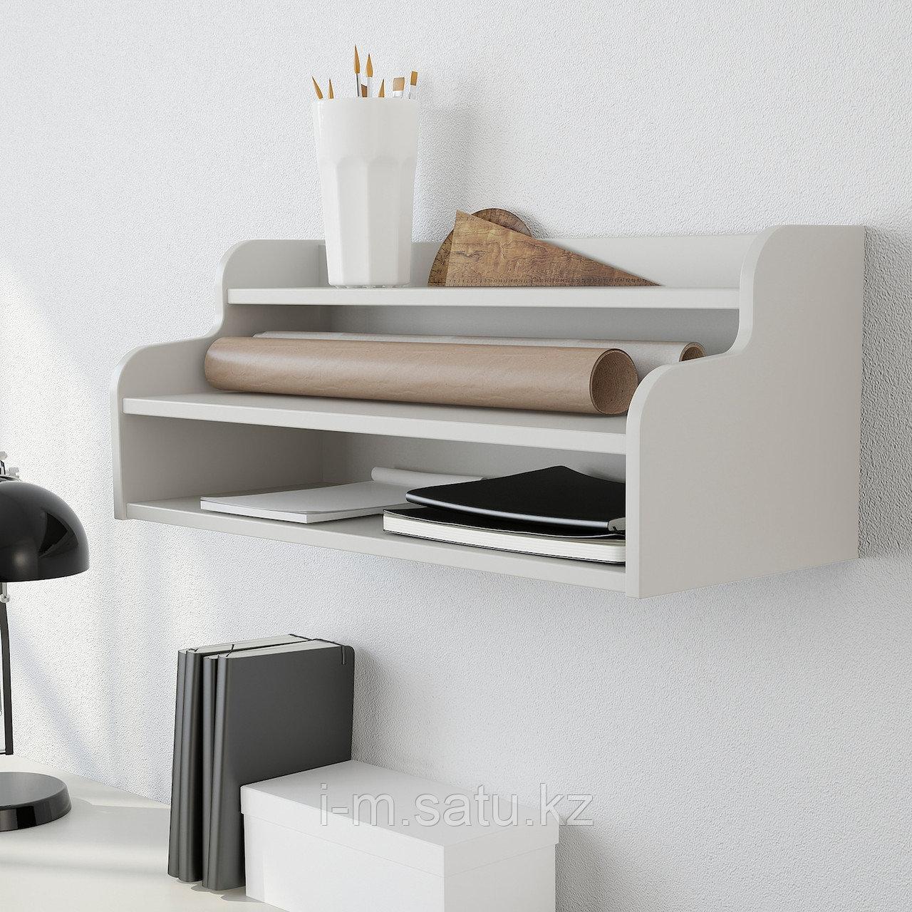 КЛИМПЕН Дополнительный модуль, светло-серый серый, серый светло-серый 58x23 см