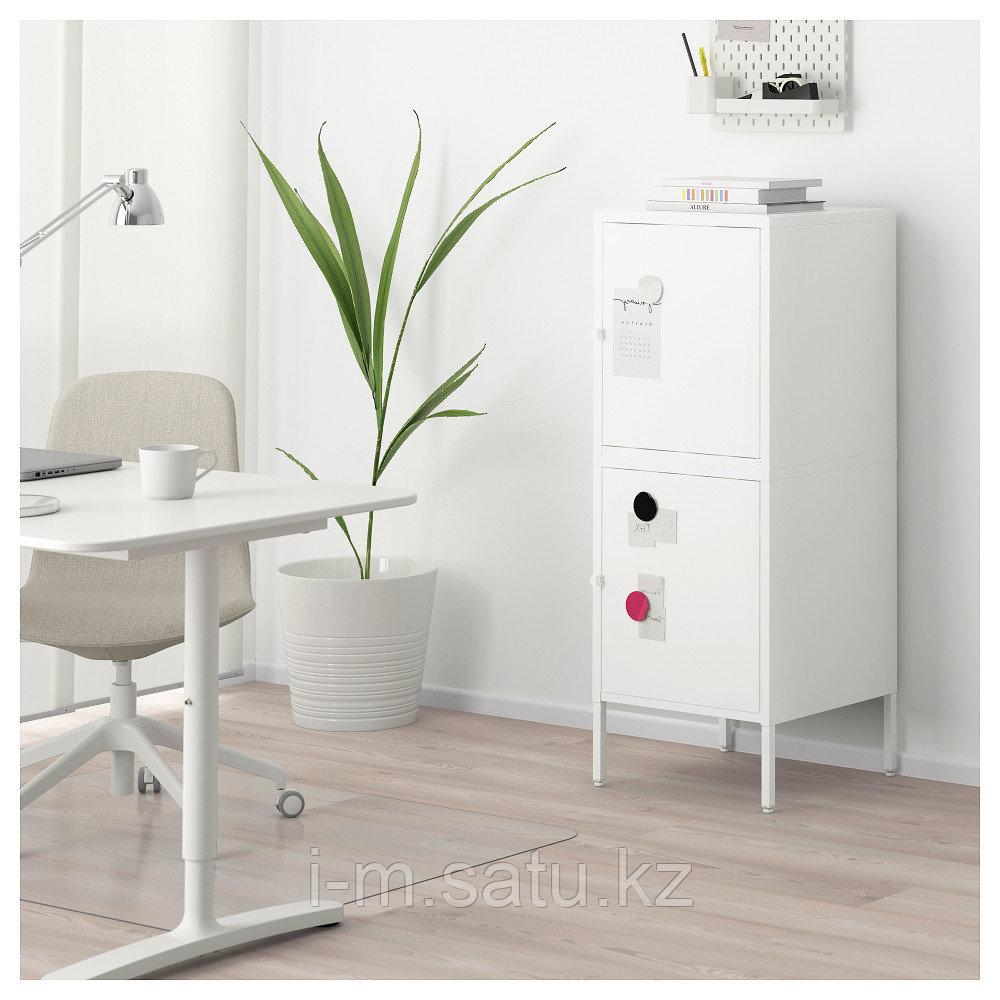 ХЭЛЛАН Комбинация для хранения с дверцами, белый, белый 45x47x117 см