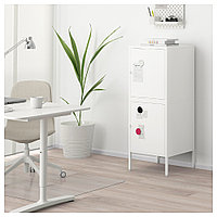 ХЭЛЛАН Комбинация для хранения с дверцами, белый, белый 45x47x117 см, фото 1