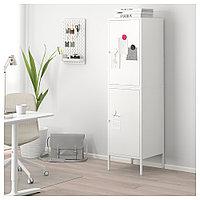 ХЭЛЛАН Комбинация для хранения с дверцами, белый, белый 45x47x167 см, фото 1