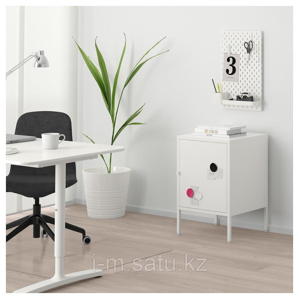 ХЭЛЛАН Комбинация для хранения с дверцами, белый, белый 45x47x67 см