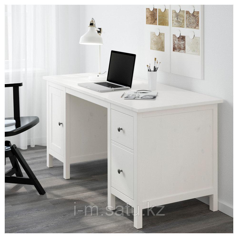 ХЕМНЭС Письменный стол, белая морилка, белая морилка 155x65 см