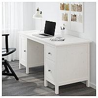 ХЕМНЭС Письменный стол, белая морилка, белая морилка 155x65 см, фото 1