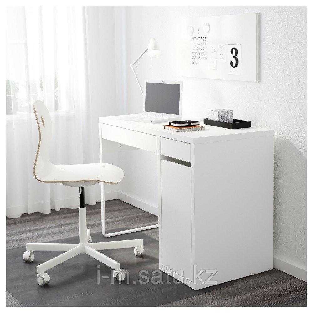 МИККЕ Письменный стол, белый, белый 105x50 см