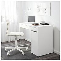 МИККЕ Письменный стол, белый, белый 105x50 см, фото 1