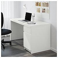 МАЛЬМ Письменный стол, белый, белый 140x65 см, фото 1