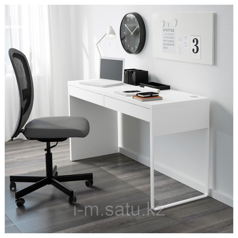 МИККЕ Письменный стол, белый, белый 142x50 см