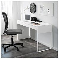 МИККЕ Письменный стол, белый, белый 142x50 см, фото 1