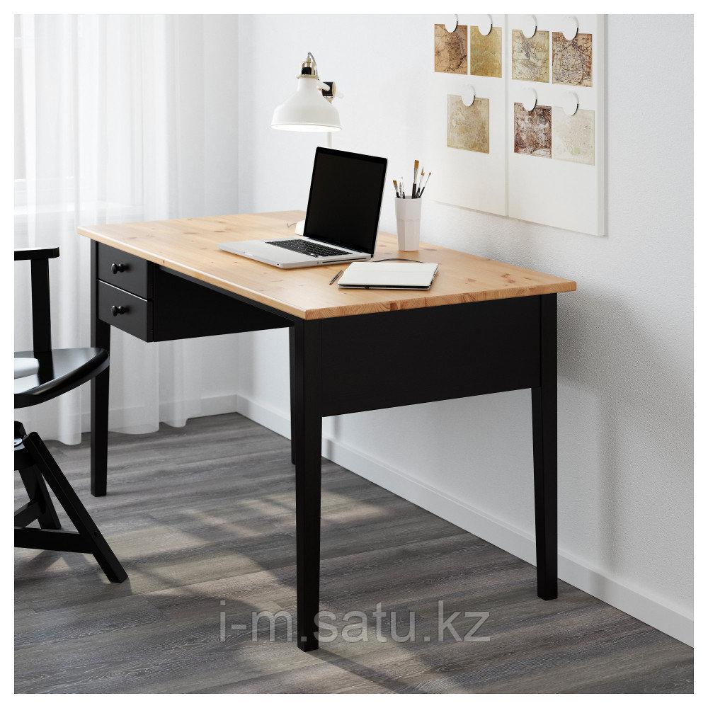 АРКЕЛЬСТОРП Письменный стол, черный, черный 140x70 см