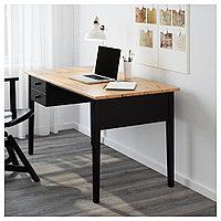АРКЕЛЬСТОРП Письменный стол, черный, черный 140x70 см, фото 1