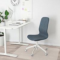 ЛОНГФЬЕЛЛЬ Рабочий стул, Гуннаред синий, белый, Гуннаред синий белый