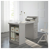 КЛИМПЕН Стол, светло-серый серый, светло-серый 120x60 см, фото 1