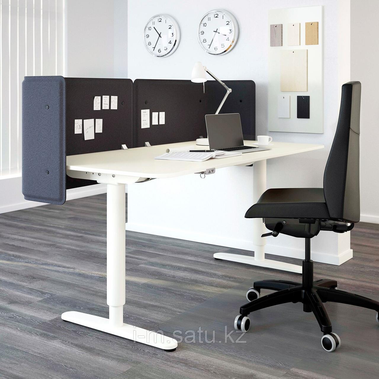 БЕКАНТ Стол-трансформер для приемной, белый, белый 160x80 55 см