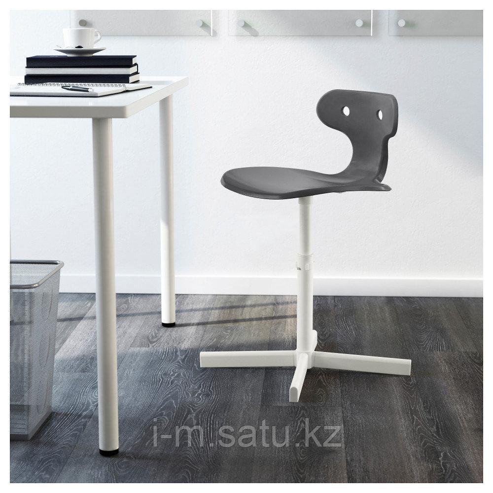 МОЛЬТЕ Стул д/письменного стола, серый