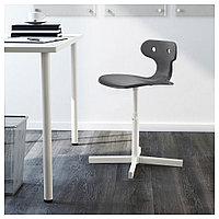 МОЛЬТЕ Стул д/письменного стола, серый, фото 1