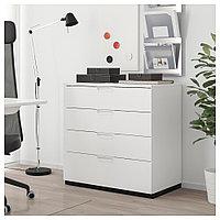 ГАЛАНТ Тумба с ящиками, белый, белый 80x80 см, фото 1