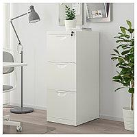 ЭРИК Шкаф для папок, белый, белый 41x104 см, фото 1