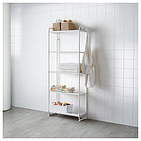 МУЛИГ Стеллаж, белый, 58x34x162 см, фото 1