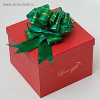 Бант-шар №4,5 три золотых полосы, зеленый