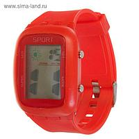 Часы наручные электронные, ремешок силикон, циферблат прямоугольник, микс